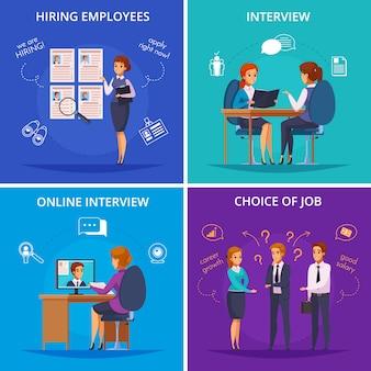 Conceito de design plano de recrutamento