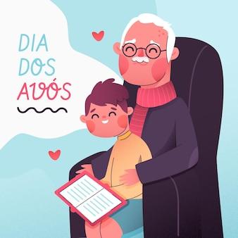 Conceito de design plano dia dos avos