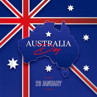 Conceito de design plano do dia da austrália