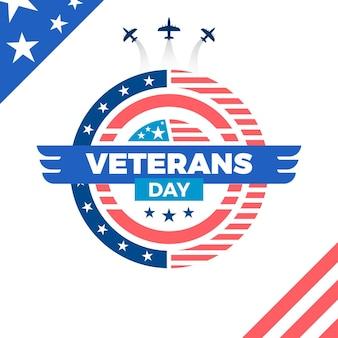 Conceito de design plano do dia dos veteranos