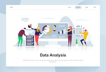 Conceito de design plano moderno de análise de dados.