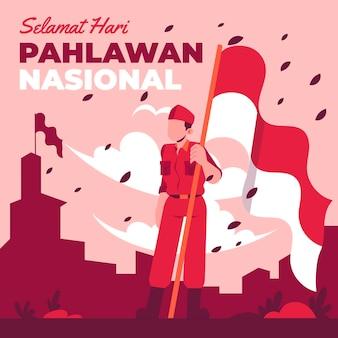 Conceito de design plano pahlawan