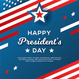 Conceito de design plano para o dia dos presidentes
