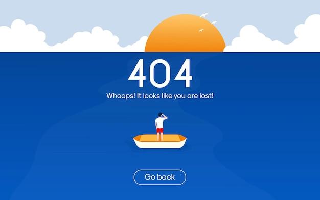 Conceito de design plano para página não encontrada erro 404