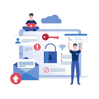Conceito de design plano roubar dados