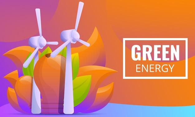 Conceito de design sobre o tema energia verde
