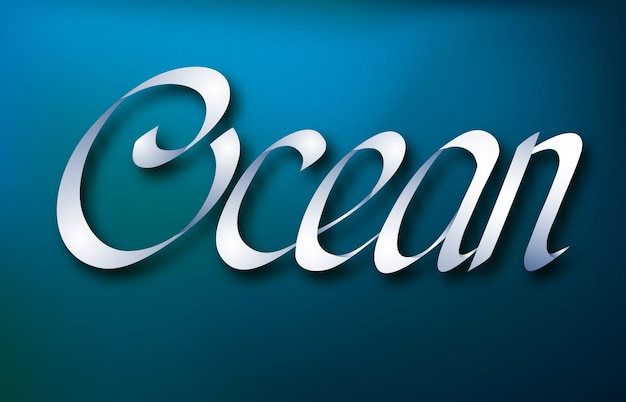 Conceito de design tipográfico abstrato com caligrafia elegante