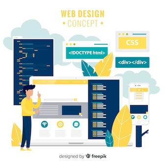 Conceito de design web moderna mão desenhada