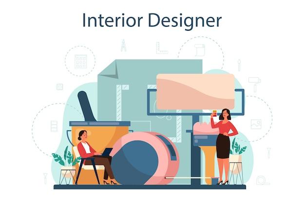 Conceito de designer de interiores profissional
