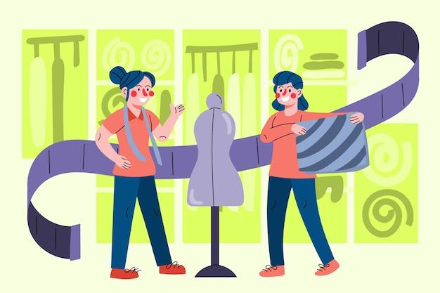 Conceito de designer de moda de ilustração de design plano