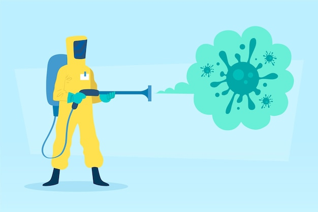 Conceito de desinfecção de vírus