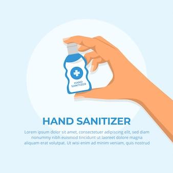 Conceito de desinfetante para as mãos