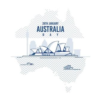 Conceito de dia da austrália desenhado à mão