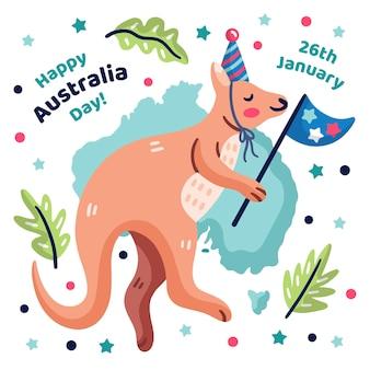 Conceito de dia da austrália desenhados à mão