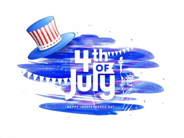 Conceito de dia da independência americana.