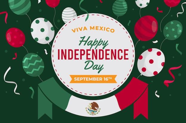 Conceito de dia da independência mexicana de design plano