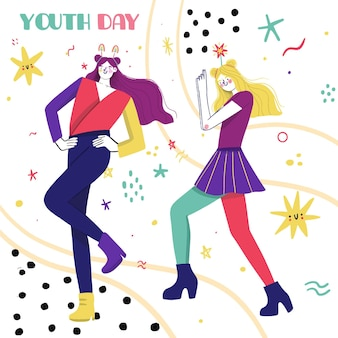 Conceito de dia da juventude colorido