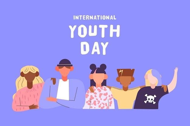 Conceito de dia da juventude em design plano