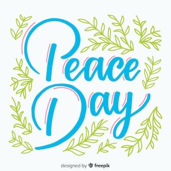Conceito de dia da paz com letras