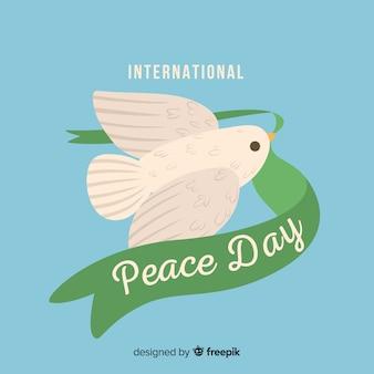 Conceito de dia da paz com uma pomba