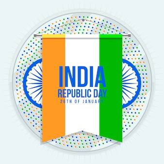 Conceito de dia da república indiana design plano