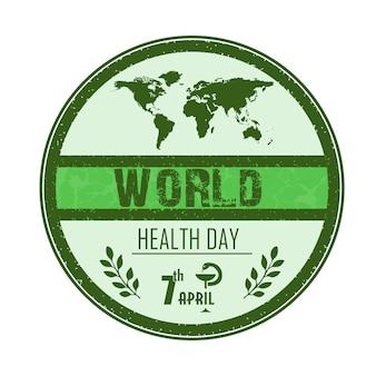 Conceito de dia da saúde do mundo com globo