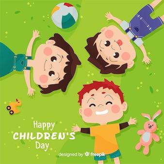 Conceito de dia das crianças em design plano