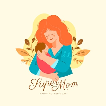 Conceito de dia das mães de design plano