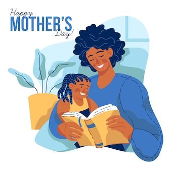Conceito de dia das mães em design plano