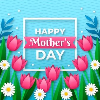 Conceito de dia das mães floral Vetor grátis