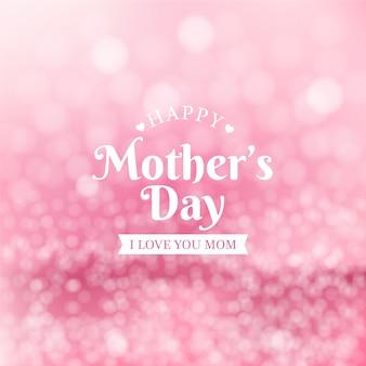 Conceito de dia das mães turva