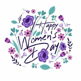 Conceito de dia das mulheres com flores