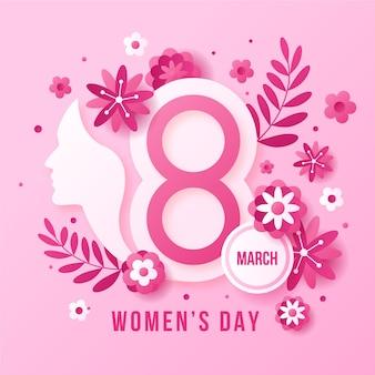 Conceito de dia das mulheres de design plano
