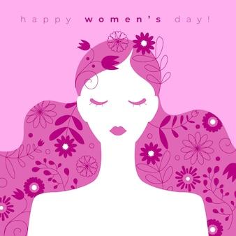 Conceito de dia das mulheres desenhadas à mão