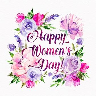 Conceito de dia das mulheres em aquarela