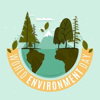 Conceito de dia de ambiente mundial de design plano