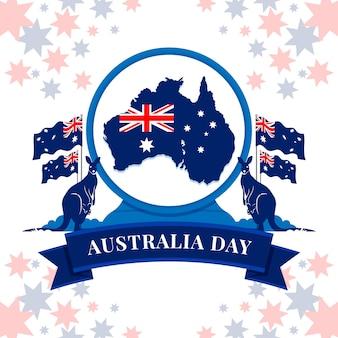 Conceito de dia de austrália de design plano