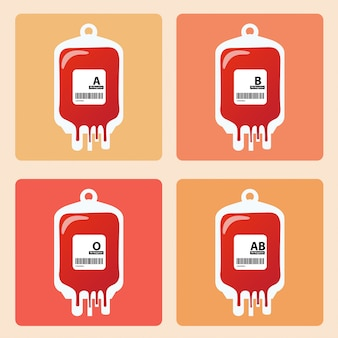 Conceito de dia de doação de sangue. humano doa sangue
