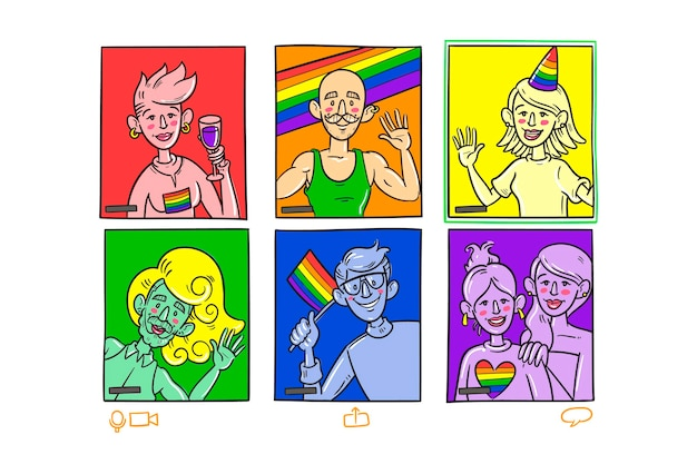 Conceito de dia de orgulho colorido