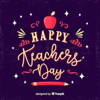 Conceito de dia de professores com letras