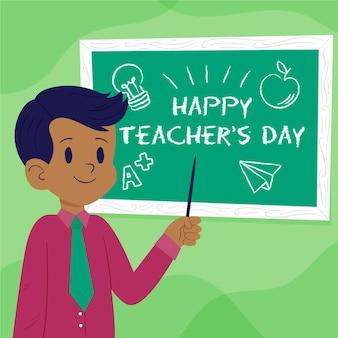 Conceito de dia de professores desenhado à mão