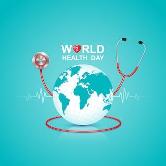 Conceito de dia de saúde do mundo para cuidados de saúde e médicos