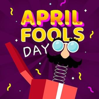 Conceito de dia de tolos de abril de design plano