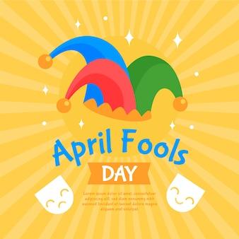 Conceito de dia de tolos de abril plana