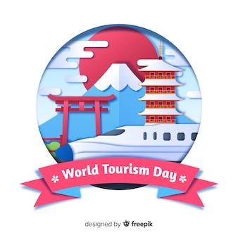 Conceito de dia de turismo com marcos