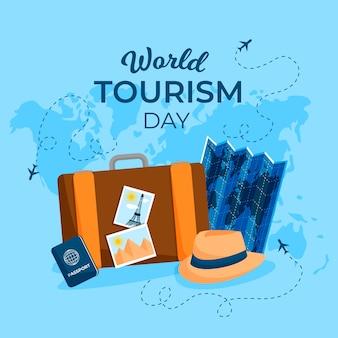 Conceito de dia de turismo de design plano