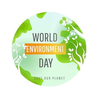 Conceito de dia do mundo ambiente.
