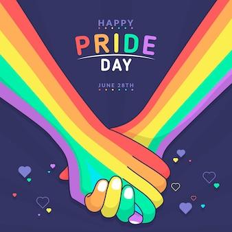 Conceito de dia do orgulho com as mãos segurando