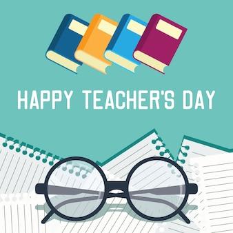 Conceito de dia do professor feliz
