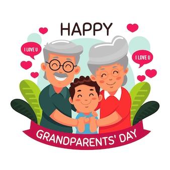 Conceito de dia dos avós nacionais de design plano